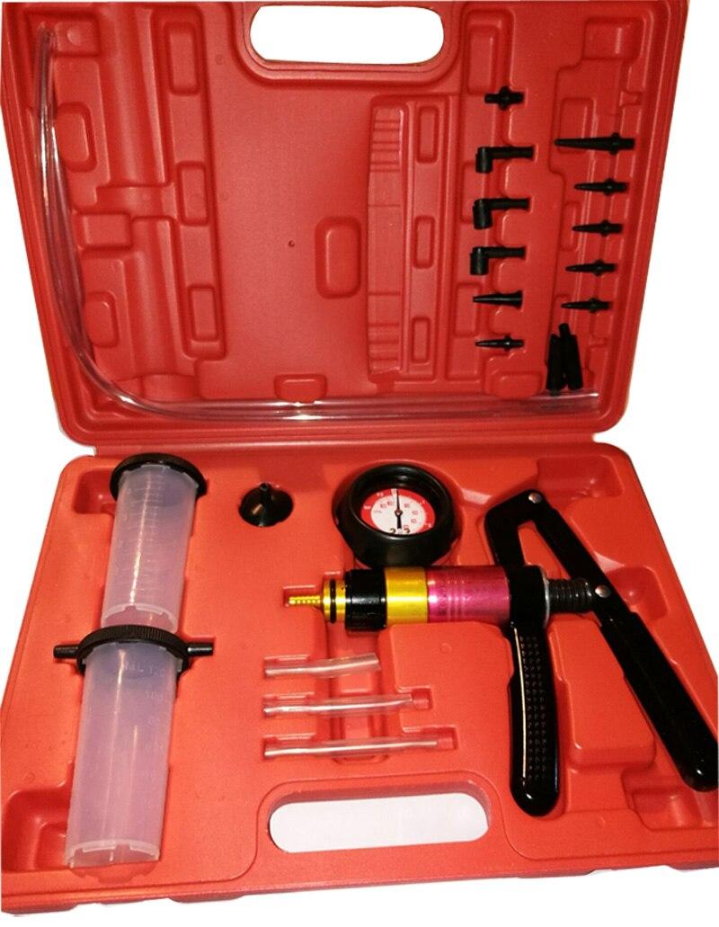 DHL, EMS, FedEx Быстрая доставка 2 комплекта ручной вакуумный насос тормоза bleeder кровотечение диагностический тестер набор инструментов