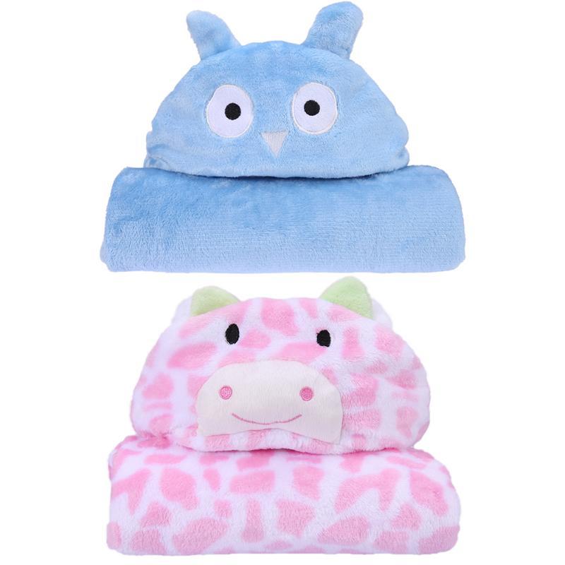 Baby Coral Fleece Blanket Lovely Cartoon Baby Bath Towel Kids Hooded Towel Children Cloak Bathrobe High Quality