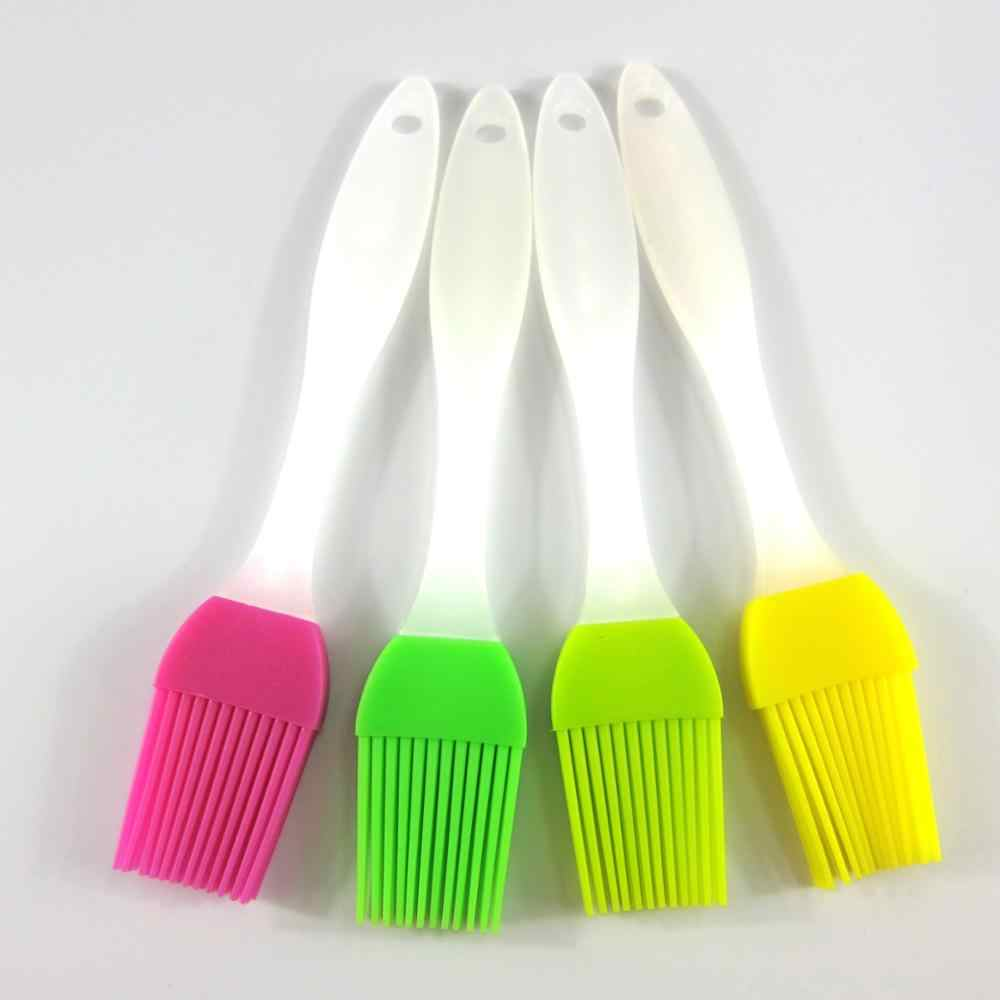 Pastry Oil Brush Candy Color Silicone Baking Brush Pastry Oil Cream For Bread BBQ Utensil Safety Basting Oil Brush