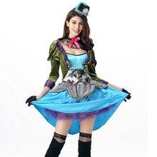 Fantasía de las maravillas de Alicia Cosplay partido Sexy traje adulto  Carnaval disfraces de Halloween para las mujeres e54f3d02497e