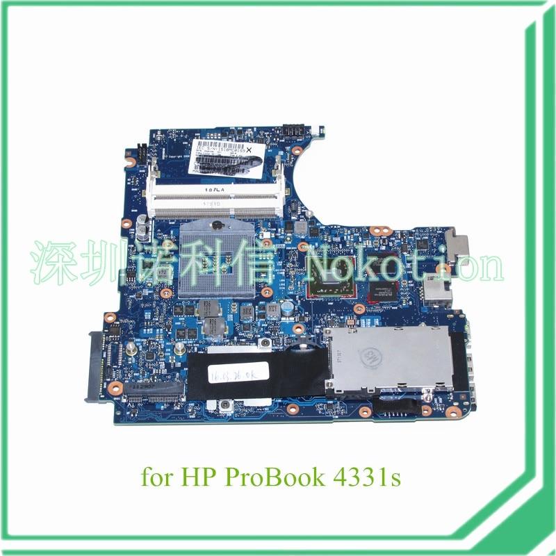 NOKOTION 658334-001 For Hp Probook 4331S 4431S Laptop Motherboard HM65 Chipset HD6490M 512M DSC Graphics DDR3