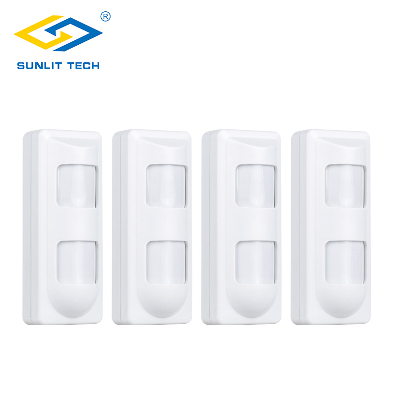 4pcs Wireless 433Mhz Dual PIR Motion Sensor Infrared Pet Immune Motion Detector Alarm For GSM/PSTN Home Security Alarm System 2pc lot wireless pir detector for gsm pstn home security alarm system wireless 433mhz indoor pir motion sensor