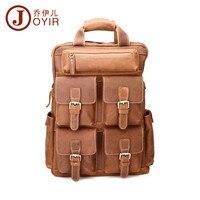 JOYIR винтажный из натуральной яловой кожи мужской рюкзак много карманов большой повседневный рюкзак дорожные сумки для мужчин сумка для муж
