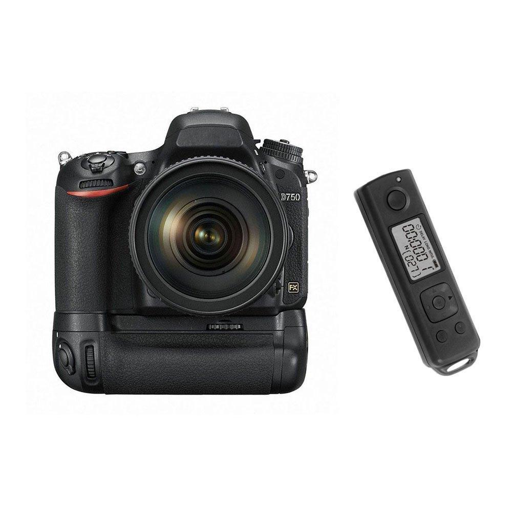Meike MK-DR750 Built-in 2.4g Wireless Control Battery Grip for Nikon D750 AS MB-D16 Wireless Remote meike mk d750 battery grip pack for nikon d750 dslr camera replacement mb d16 as en el15 battery