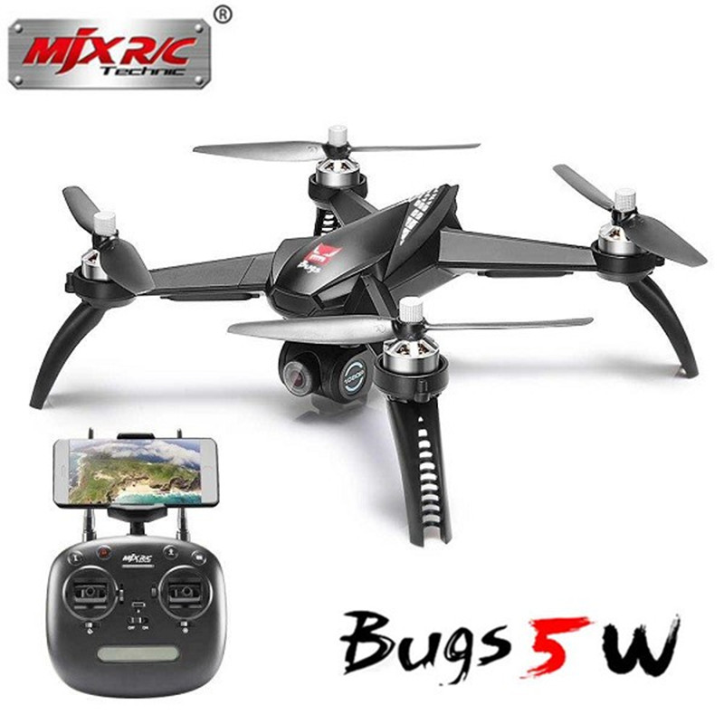 (In stock) Original MJX B5W Bugs 5W Wifi FPV RC Quadcopter Drone with 1080P Camera +Brushless Motors GPS Follow ME RTF mjx bugs 5w b5w wifi fpv rc drone