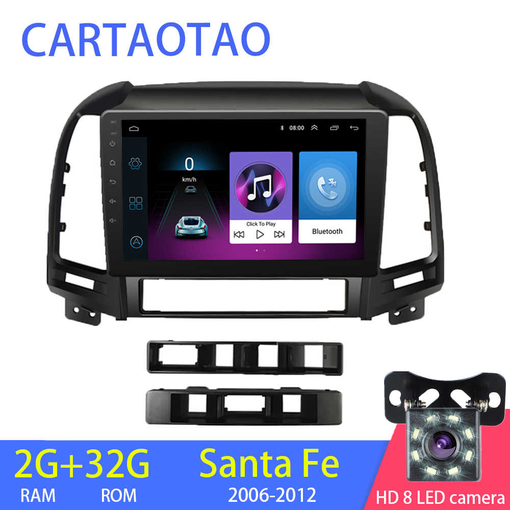 2g + 32g 2din Android car radio multimedia video player for modern Santa Fe 2 2006-2012 car radio Navitei GPS navigation WiFi