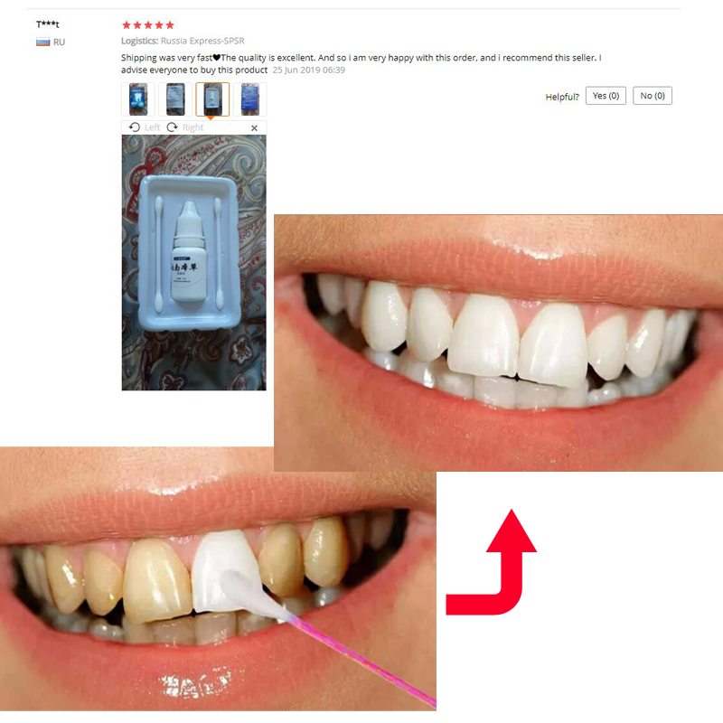 2pcs Herb Teeth Whitening Essence Oral Cleansing Oral Hygiene Serum Effectively Removes Tartars Plaque Stains Dental Tools Care 2