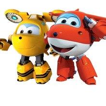 Большие размеры! 15 см ABS Супер Крылья игрушки Деформация Самолеты Трансформация Робот фигурки игрушки для детей Рождественский подарок