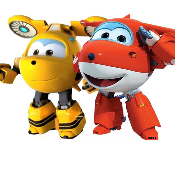 BIG SIZE 15CM ABS Super Wings font b Toys b font Deformation Airplanes Transformation robot Action