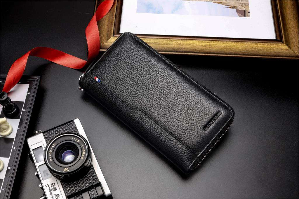 HTB1wtr5XZfrK1RkSnb4q6xHRFXa1 - BISON DENIM 100% Cow Leather Clutch Wallets for Men RFID Blocking Card Holder Wallet Coin Purse Long Phone Wallet W8226