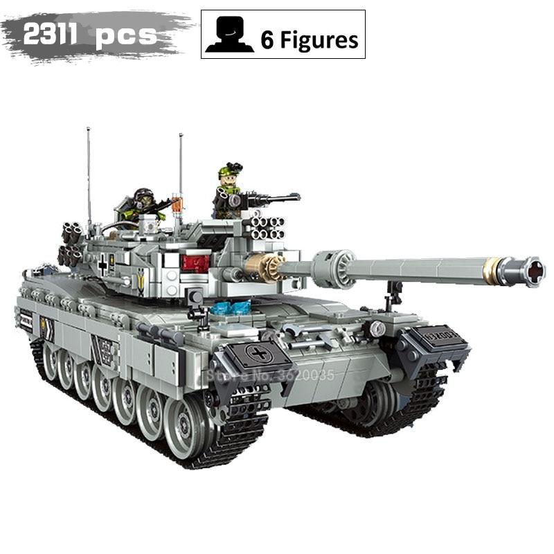 Military Series German leopard Main battle tank Ww2 battle model 2311pcs compatible legoinglys Blocks figures weapom toys gift