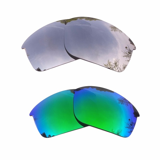 db1cd4cf94 Silver Mirrored   Green Mirrored Polarized Replacement Lenses for Bottle  Rocket Frame 100% UVA   UVB