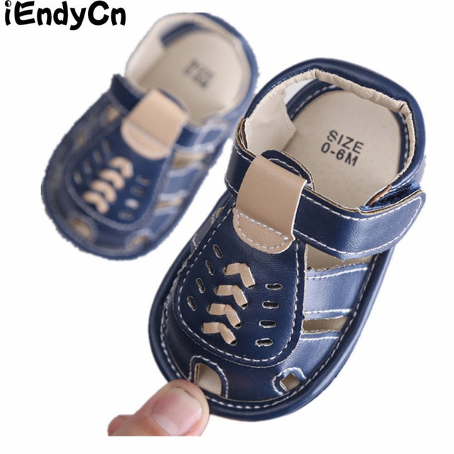 0aaa23ccc8a5 iEndyCn Baby Crib Shoes Slip-on First Walkers Star Soft Bottom Blue Brown  White Shoes Kids Summer Baby Boy YD413