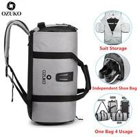 OZUKO Anzug lagerung tasche Multifunktions Männer Anzug Reisetasche Große Kapazität Wasserdichte Duffle Tasche für Reise Hand Gepäck Taschen