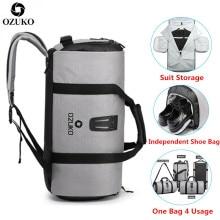 OZUKO Suit storage bag Multifunction Men Suit Travel Bag Lar