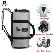 Ozukoスーツ収納袋多機能男性スーツ旅行バッグ大容量防水ダッフルバッグ旅行手荷物バッグ