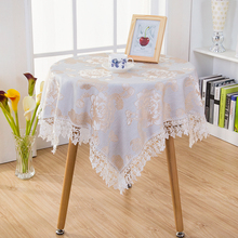 60*60cmDamask Fabric Tablecloth Table Cover Cloth Refrigerator Towel Round  Square Rectangle Tablecloths Multi