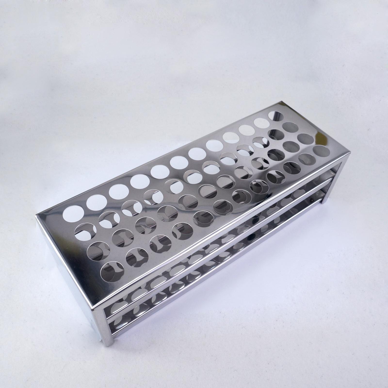 16mm Diam X 48 Holes Stainless Steel Test Tube Rack Holder Storage Lab Stand