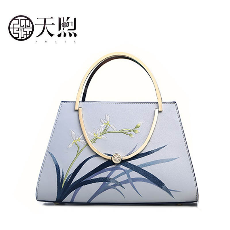 Pmsix 2019 New Women Leather bag quality handbags Fashion embroidered bag Luxury Cowhide tote women leather shoulder bagPmsix 2019 New Women Leather bag quality handbags Fashion embroidered bag Luxury Cowhide tote women leather shoulder bag