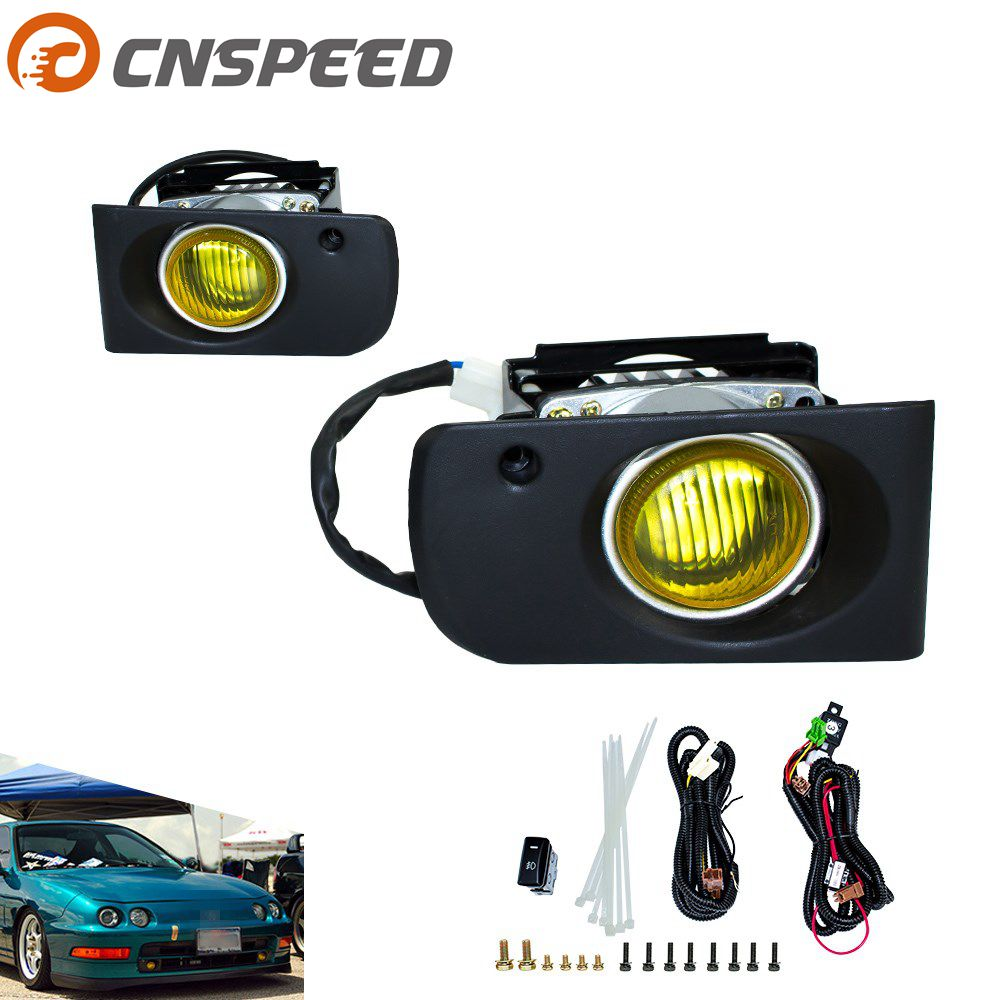 купить CNSPEED Fog light for 1994-2001 Honda ACURA INTEGRA DC2 JDM fog lamps yellow/smoke Fog Driving Lamps Daytime Running Lights онлайн