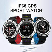 IP68 GPS wrist watch with waterproof amoled screen real heart rate passometer bluetooth4 outdoor sport fitness tracker