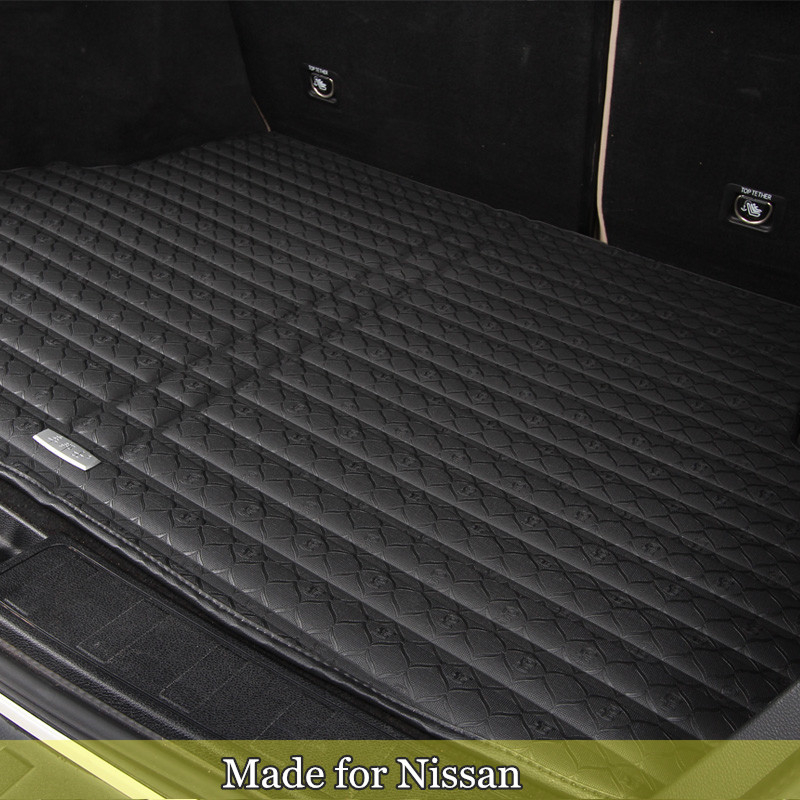 Trunk mat FOR Nissan Rouge X-trail Murano Sentra Sylphy versa Tiida waterproof boot mat cargo floor tray rear trunk liner 7927