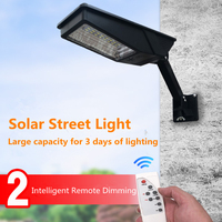 12W LED Wall Lamp IP65 Solar Street Light Radar Motion 2 In 1 Constantly Bright & Induction Solar Sensor Remote Control Outdoor