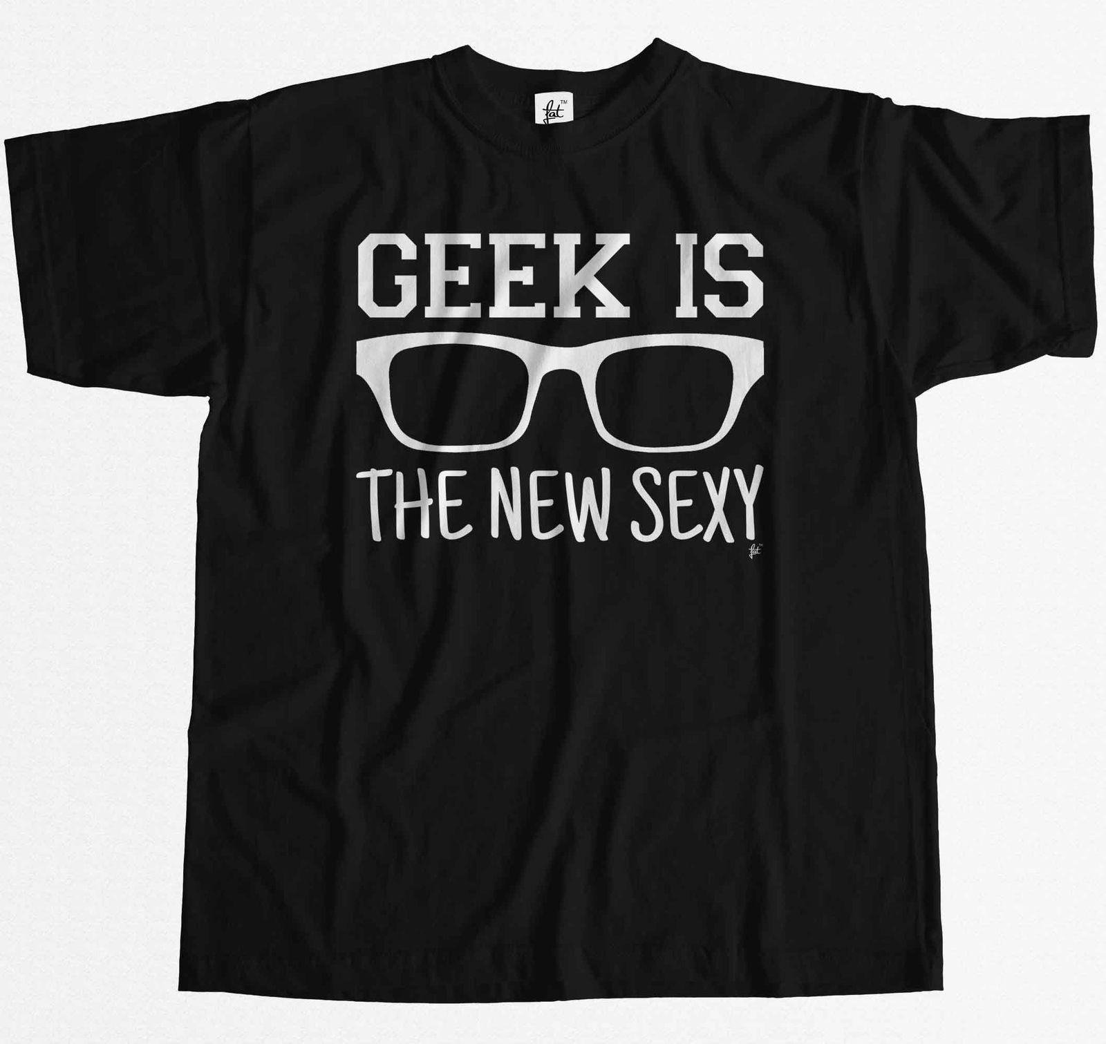 T-Shirt Summer Novelty Cartoon T Shirt Brill Hipster - Geek Is The New Sexy Mens T-Shirt Movie Shirt
