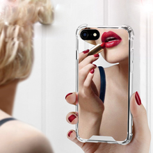 Case For iPhone 7 7 Plus Cover 6 6S Plus Case Girly Mirror Make Up Soft TPU Shockproof Cover For iPhone X 8 8 Plus Cases