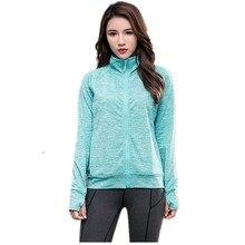 Женские топы для йоги, спортивные толстовки, быстросохнущие толстовки с длинными рукавами, Женская Спортивная одежда для бега, куртка на молнии с капюшоном, куртка