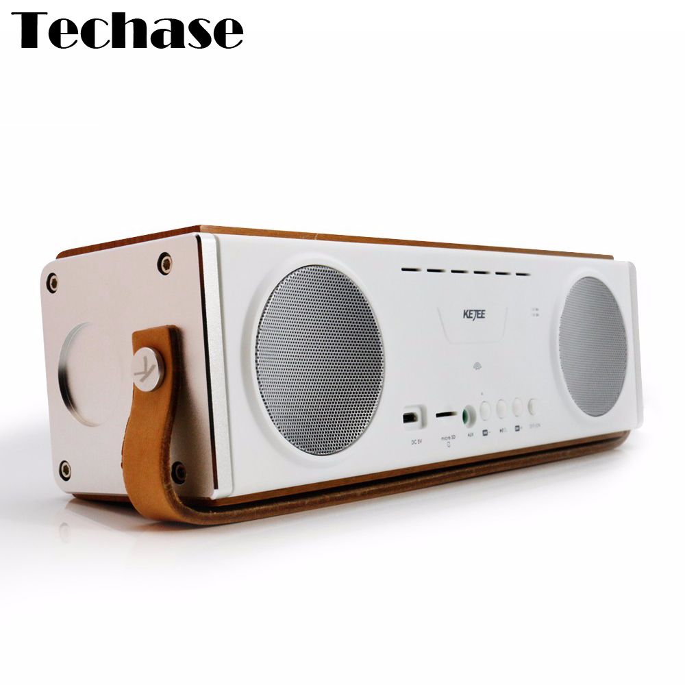 Wooden Bluetooth Wireless Speaker Stereo Soundbar TF Card Altavoces Subwoofer HiFi Computer PC Speakers MP3 Player Music Spotify