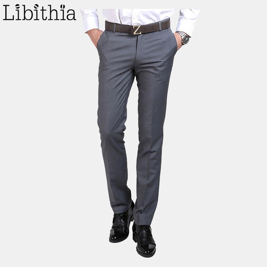 Men Luxury Suit Pants Social Dress Pants Mens Slim Fit Formal Blazer Trousers 2017 New Arrival Pantalon Costume Homme Black B065