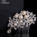 Wedding Bridal Simulated-Pearl Hair Pins Rhinestone Crystal Hair Clips Bridesmaid Jewelry Fashion Accessories Hair Jewelry H006