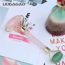 LIUDADAO New Mixed Face Rollers Natural Crystal Skin Care Facial Massager Rose Quartz Aventurine Dou
