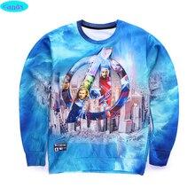 free shipping youth brand 3D The Avengers printed hoodies boys teens Spring Autumn thin sweatshirts big kids sweatshirts W9