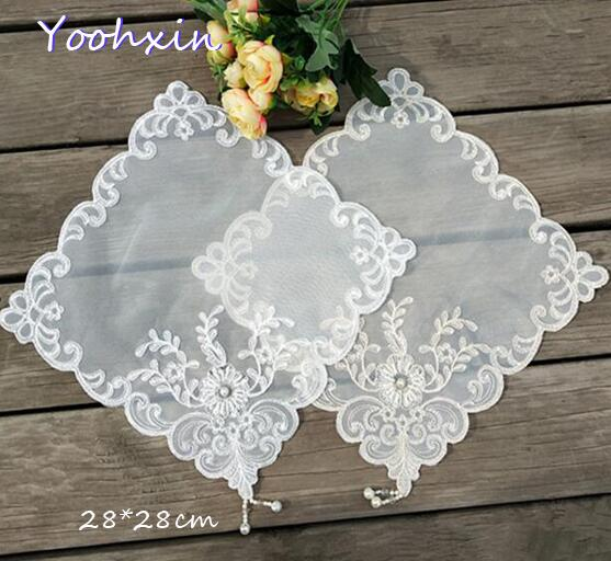 Home & Garden Hot Handmade Round Lace Cotton Table Place Mat Crochet Coffee Placemat Pad Wedding Dish Coaster Cup Mug Tea Dining Doily Kitchen Luxuriant In Design