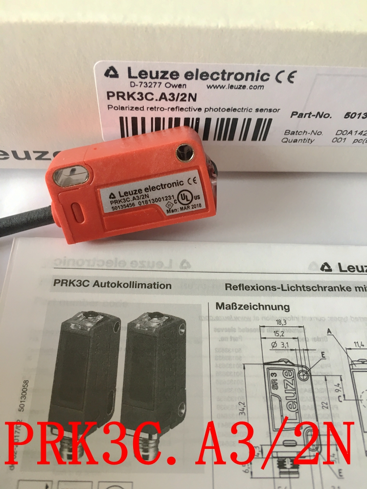 Spot brand new original German LEUZE photoelectric switch PRK3C.A3/2N PRK 3B/6.22Spot brand new original German LEUZE photoelectric switch PRK3C.A3/2N PRK 3B/6.22