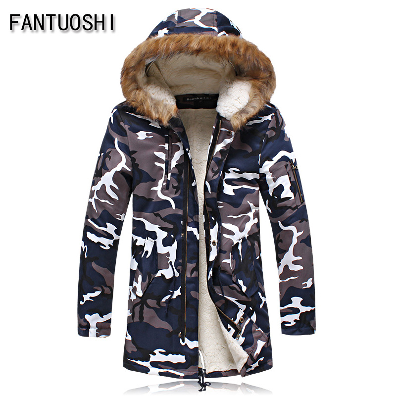 2016 New Winter Jacket Men Cotton Padded Long ArmyGreen Thick Warm Casual Hooded Male Jacket Coat