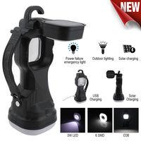 LED Outdoor Solar Torch USB Charging Portable Flashlight Work Small Table Lamp Camping Light Multifunctional Rotating Lantern