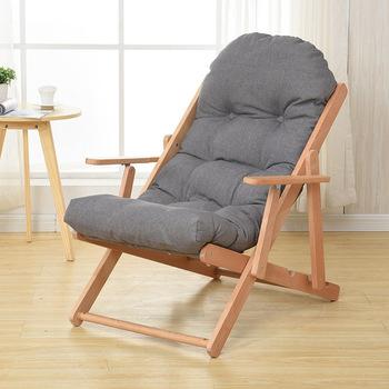 Wypoczynek fotel bujany z litego drewna składany fotel wypoczynkowy prosty pufa relaksacyjna dmuchana Sofa rozkładany salon balkon do sypialni meble tanie i dobre opinie DAMEDAI CN (pochodzenie) Meble do salonu As details Nowoczesne CH01 Rocking Chair Minimalistyczny nowoczesny Rozrywka krzesło