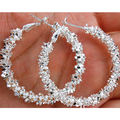 Bluelans Wholesale Women Jewelry  Silver Plated Stars Hoop Earring