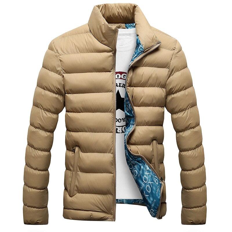YONGM Mens Stand Collar Outwears Zipper Blouse Winter Down Jackets Coats