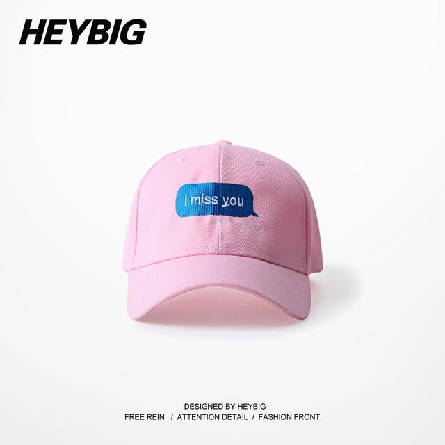 TE Echo de menos calle Casquillo de la manera Pop music hip hop sombrero papá tapas HEYBIG Headwear soft 6 paneles de Cartón de Embalaje Ajustable Gorras