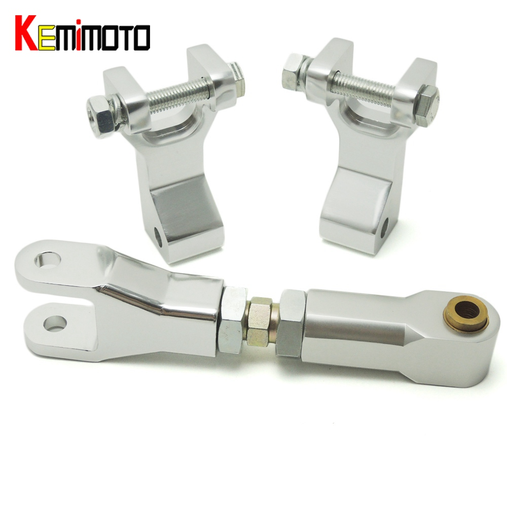 KEMiMOTO for Honda TRX 450R Aluminum Adjustable ATV Front Lowering Kit Rear Lowering Kit Silver for Honda TRX450R kemimoto for yamaha raptor 700 billet aluminum atv front lowering kit and rear lowering kit silver