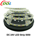 24V LED Strip 5050 NO Waterproof / Waterproof 60 LEDs/m Flexible LED Light 5m/lot.