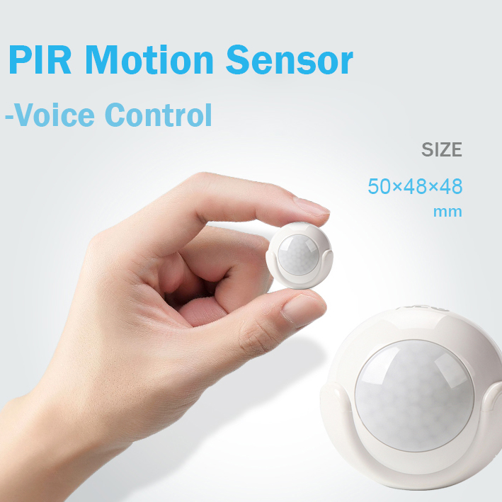 WiFi Smart PIR Motion Sensor Smart Home Dectector Compatible With IFTTT for Voice Control No Hub mini wifi rgb strip light controller with music control and voice control compatible with google home