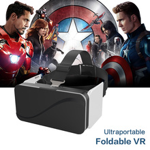 VR Box 3D Foldable Virtual Reality Goggles Ultra-portable Headset Googles VR Glasses for Smartphones 4.7-6.0″Immersive 3D Game
