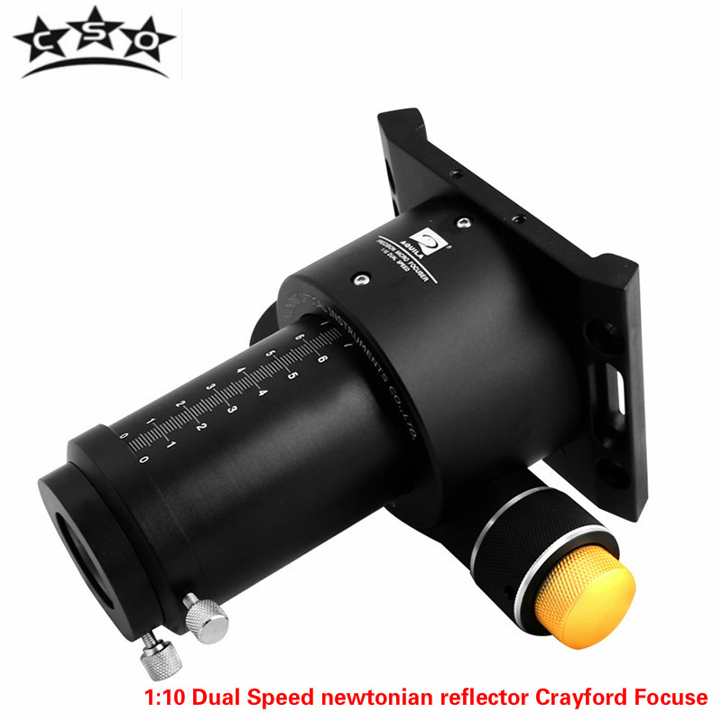 CSO 2 Inch 1:10 Dual Speed Crayford Focuse Newtonian Reflector Astronomical Monocular Telescope Full Metal with 1.25