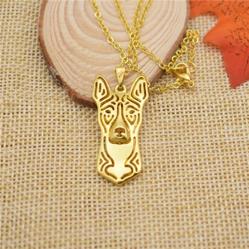 LPHZQH fashion cartoon dog Boho Chi necklace Basenji terrier choker pendant necklace Women collars Jewelry Christmas