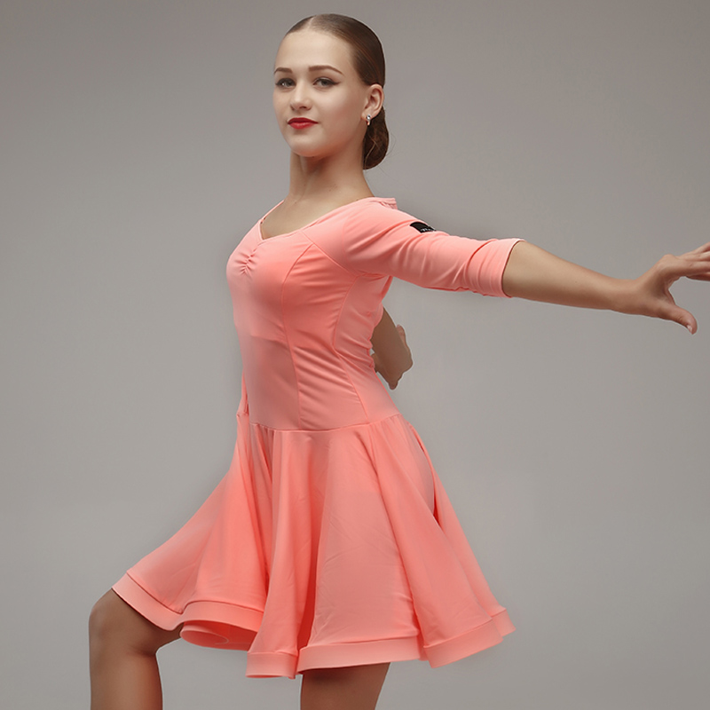 Picture of Blue Girls Dance Costumes Kids Latin Dressess Kids Latin Dress Rumba Samba Costumes Latin Salsa Dress Fringe Dance Wear